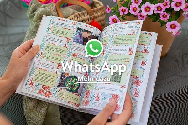 WhatsApp Nachrichten ausdrucken als Buch mit zapptales