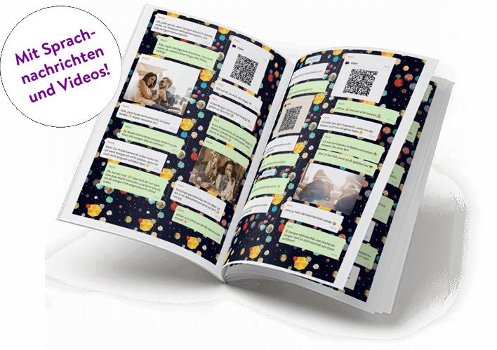 WhatsApp Nachrichten als Buch ausdrucken mit Sprachnachrichten und Videos Desktop