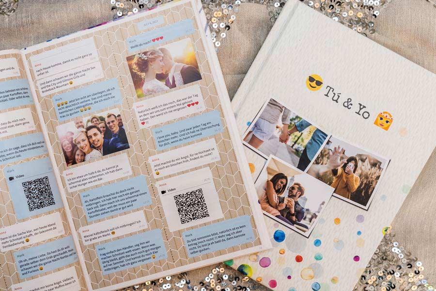 Facebook Messenger Chat imprimir como libro o PDF con zapptales