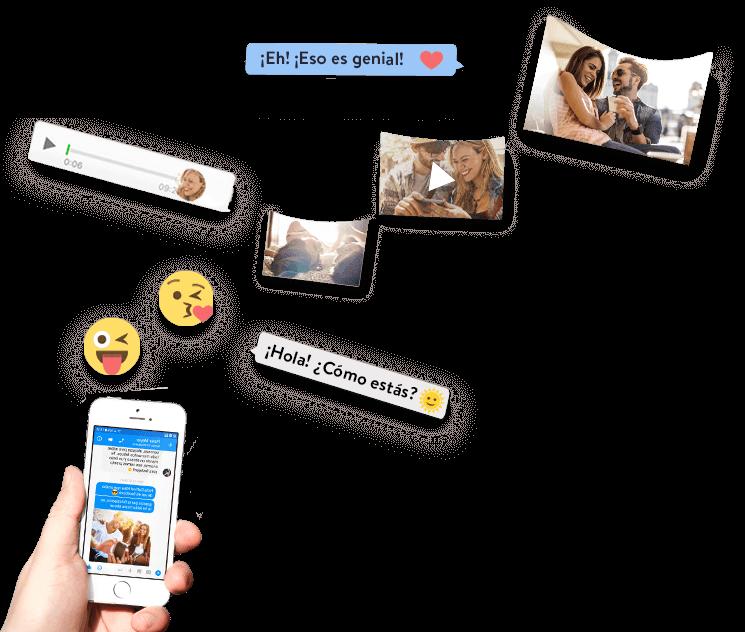 Los mensajes de Facebook Messenger vuelan de un teléfono inteligente a un libro zapptales