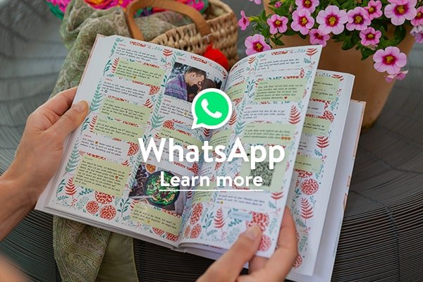 Your WhatsApp chat in a beautiful book with zapptales