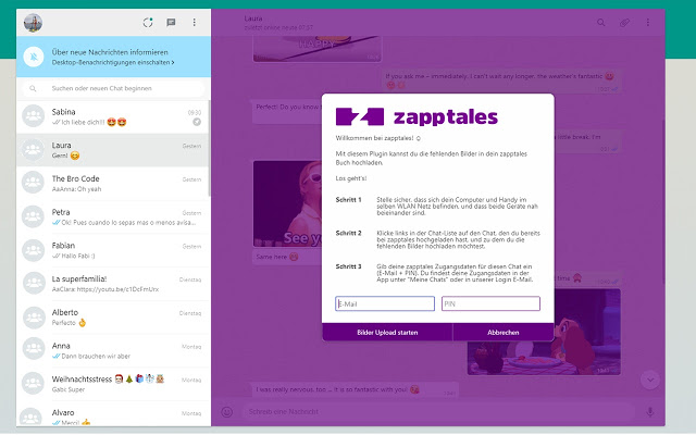 zapptales Chrome Extension