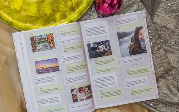 Chat Buch als Erinnerung an geliebten Menschen
