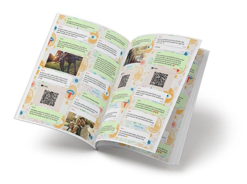 Chat Buch mit Nachrichten eines geliebten Menschen