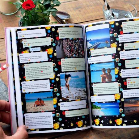 Fernbeziehung: Das perfekte Geschenk - WhatsApp Buch mit Chat