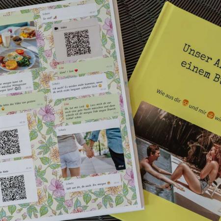 Fernbeziehung: Das perfekte Geschenk - WhatsApp Buch Chat und Cover