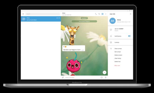 Open Telegram chat