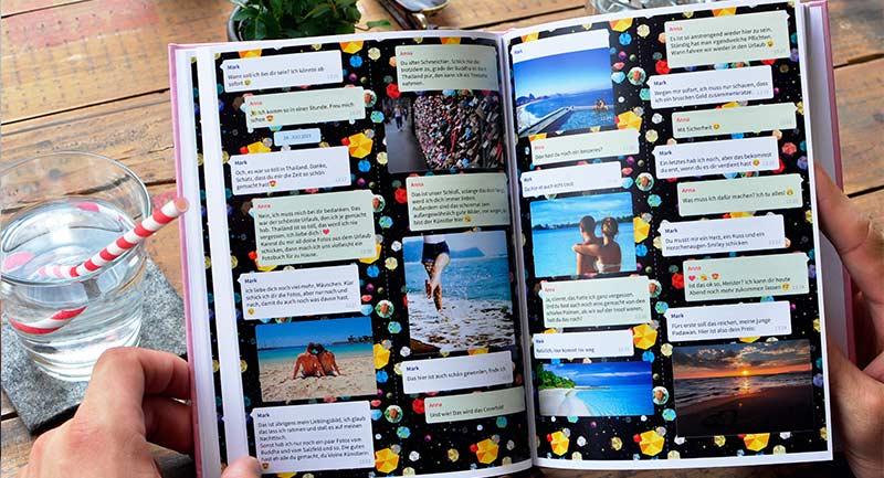 Freuen über Telegram Chat Buch