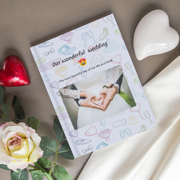 Instagram chat book as a wedding gift