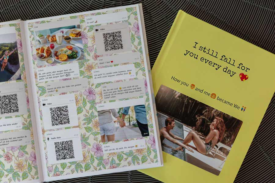 Print your Instagram chat book as a book or a pdf
