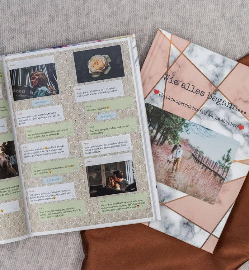 Telegram Chat Buch drucken als Buch oder PDF mit zapptales
