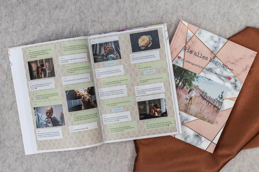 Telegram Chat Buch drucken als-Buch oder PDF mit zapptales
