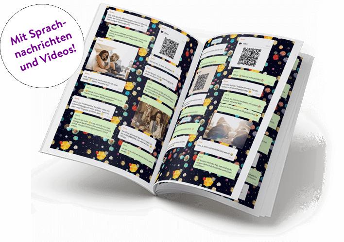 Telegram Chat als Buch drucken mit Sprachnachrichten und Videos