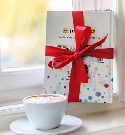 WhatsApp Chat Buch von zapptales als Geschenk