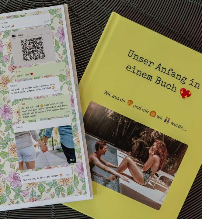 Pärchen Chat als gedrucktes Buch