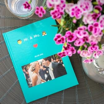 Chat Buch mit allen Erinnerungen an die Hochzeit