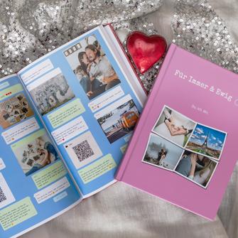 Ein Chat Buch von zapptales als persönliches Geschenk zum Valentinstag