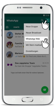 WhatsApp Web Login mit Android