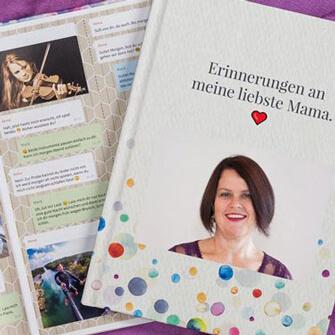 zapptales Chat Buch als Erinnerungen an meine liebste Mama