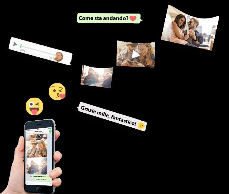 I messaggi e le foto volano dallo smartphone alla chat zapptales