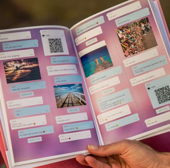Stampa la tua chat di Facebook Messenger come un libro di zapptales