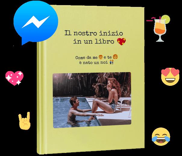 Stampa la tua chat di Facebook Messenger come un libro unico con zapptales