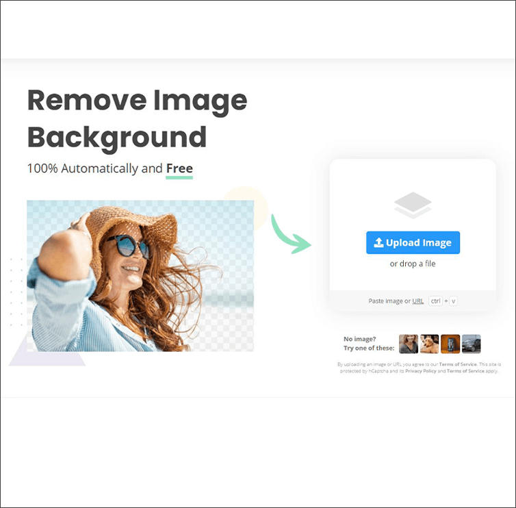Tool zum Entfernen des Hintergrund aufrufen