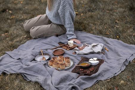 Picknick als selbstgemachtes Geschenk für beste Freundin.