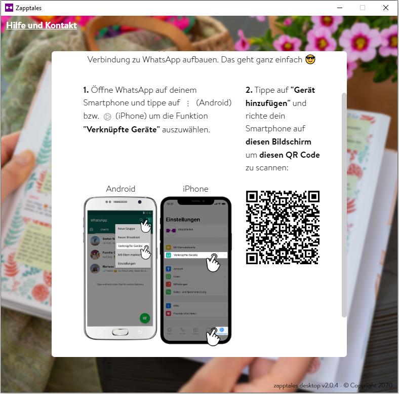WhatsApp Upload Anleitung Schritt3