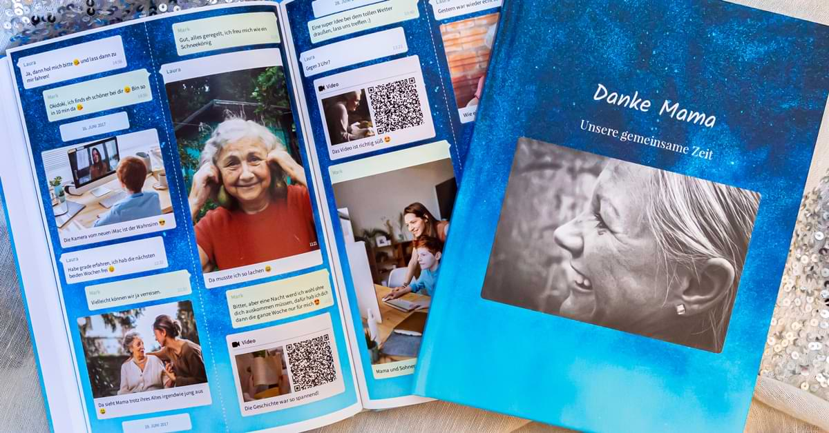 Chat Buch als Erinnerung nach dem Tod