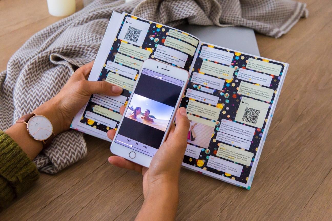 Video im Chat Buch mit Handy anschauen