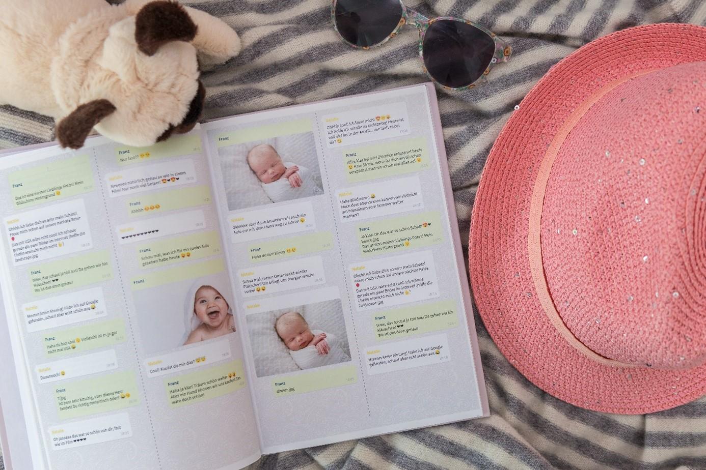 Chat Buch als Babybuch gestalten